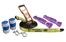 Elephant Slacklines Freak Flash'line-Set Slackline 25 m geel/zwart